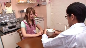 Co-working Asian babes enter into the bathroom for a few lesbian exciting