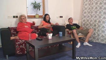 Mum in law fucks him and his wifey can be seen in