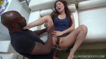 Gutsy Japanese people missy gets her twat extended out by using a major beyond compare prick
