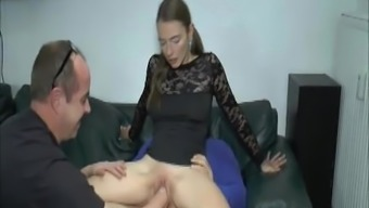 Extreme young adult dual fisted and fucked