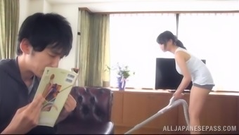 Alluring Japanese chick allow a person play with her massive organic titties
