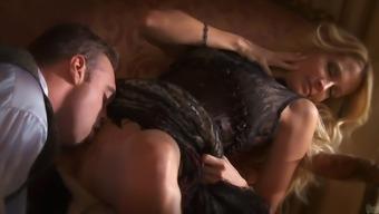Fantastic Jessica Drake Receives a Rimjob Before Going Hardcore