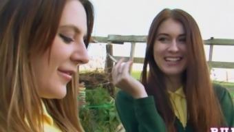 samantha aston martin and misha traverse as schoolgirls