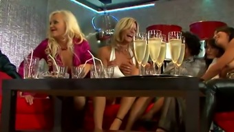 Hen weekend of hearty drink MILFs ends up with the use of wilderness switch gang bang