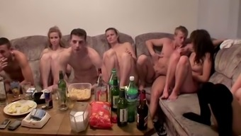Czech the students staged an orgy along at the occasion