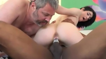 Ivy Feeling Fucks Co-worker when in front of Her Old Husband
