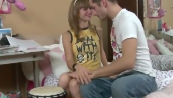 extremeteencams.com - Lovely Slender Youngster Fucks Lucky Guy