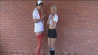 Busty look after seducing the innocuous schoolgirl