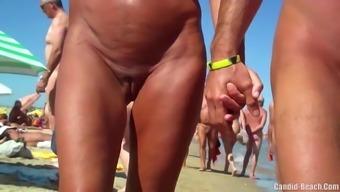 Sexy Nudist Milfs SpyCam Close Up Beach Voyeur HD Online video media