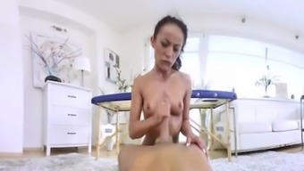 VR PORN-Sexy Brunette Lexi Dona Fuck Located on the Massage session Desk