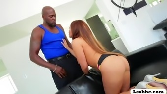 brunette large ass babe selena santana twerks her booty and experiences interracial fucked