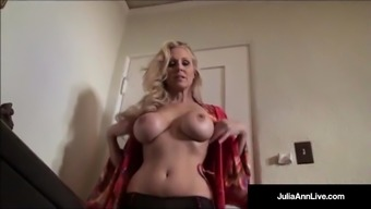 Supreme MILF Julia Ann is stripping & trying on panties!