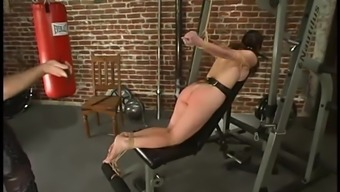 Sure Carly gets gagged and after that toyed in BDSM video