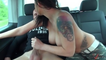 Big tits nasty person tours rock solid cock inside the proceeding motor vehicle