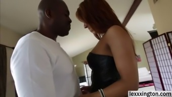 Plus size babe Sophia Fiore expertly requires a dark colored cock