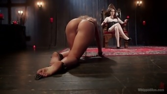 Cruel mistress is beating ass of 1 lively bitch Savannah Coyote