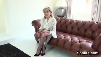 Cheating english language milf girl sonia demonstrates her major boobies