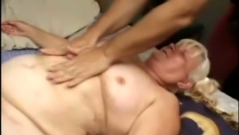 Excess weight blond granny Vicky Salas gets her unsightly hirsuite twat drilled hard