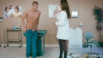 Ariella Ferrera is a very large breasted health professional that likes cycling a dick