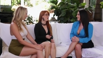 Cents Pax and Brett Rossi are in need of a brunette's pussy