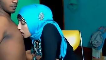 Beautiful attractive Muslim girl forbidden sexual intercourse on digicam