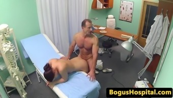 Doctor pussy fucks pool sweep before clinician is connected to