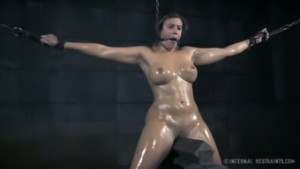 Oiled up submissive blackhead Cents Hair dresser had hard primary BDSM site