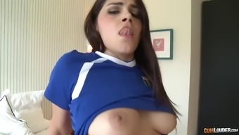 hirsuite italian language pussy of huge valentina nappi is drilled by big the spanish language cock