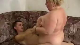 Plus-size woman Granny Fucking