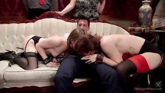 Slutty Alice Advance licks pussy and gets fucked in public