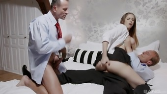 Fucking with two guys at once pleases Stella Cox the most