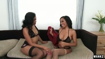 Yasmine De Leon and her sinful girlfriend are testing new dildo toy and vibrator
