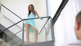 Hot Alexis Brill pleases a guy by riding his stiff fat cock