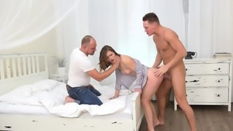 Sofy Torn gets cuckold fucked and jizzed on ass