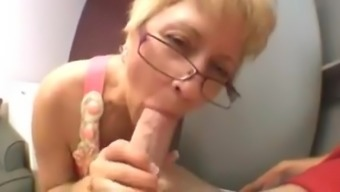 horny granny gives head little cock