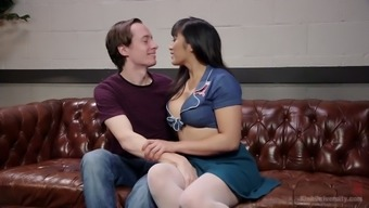Asian seductress Mia Li is face sitting before a crazy blowjob scene
