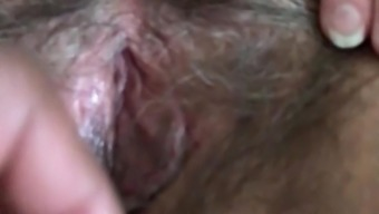 Playing With Cum Filled Hairy Older Pussy Part 2