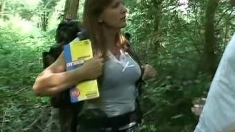 Dutch MILF Fucked Within the Wood