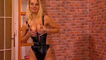 Tall misused gentle haired nympho release her minimal tits and booty