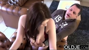 Old Younger Amazing Large Titties date fucks old mankind cums in her your mouth extreme