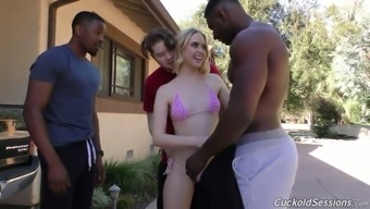 A number of outstanding guys fuck sex-hungry gaps of light chicken Chloe Couture