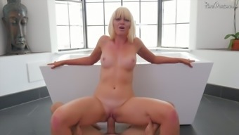 Regular but with that being said severely hot blond cowgirl Marie Mc Cray amusement rides tough dick