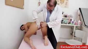 Relocated gyno health professional inspection pale babe