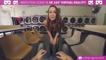 Abigail Mac is taking an additional weight with this immersive VR porno picture.