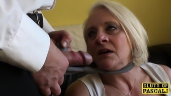 Bigtitted english gran gets hard control