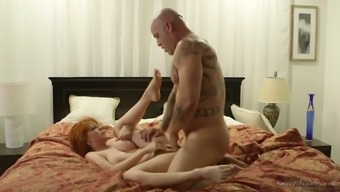 Sex-hungry red head Dollars Pax gets her pussy licked and fucked