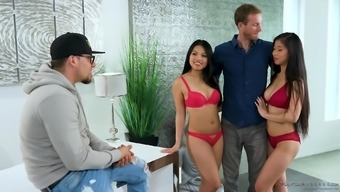 Cindy Starfall and Emerald Kush be able to get to fiddle with a rigid shaft