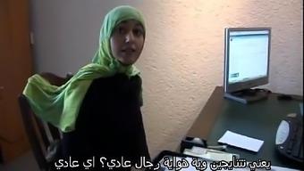 Moroccan trail Jamila tried lesbian love-making along with dutch love(Arabic slogan)