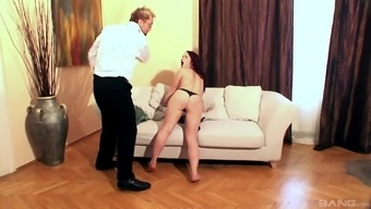 Sizzling Olga Cabaeva interests to whisper raucously although a friend spanks her