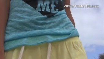 teenager naked at beach compilation